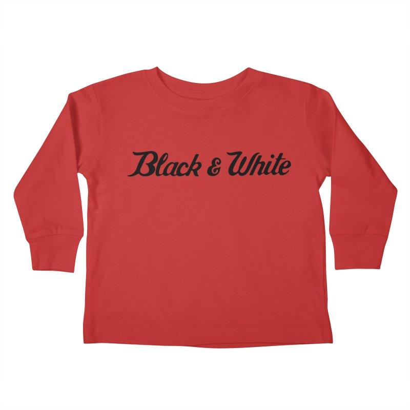Black & White Kids Toddler Longsleeve T-Shirt by pluko's Artist Shop