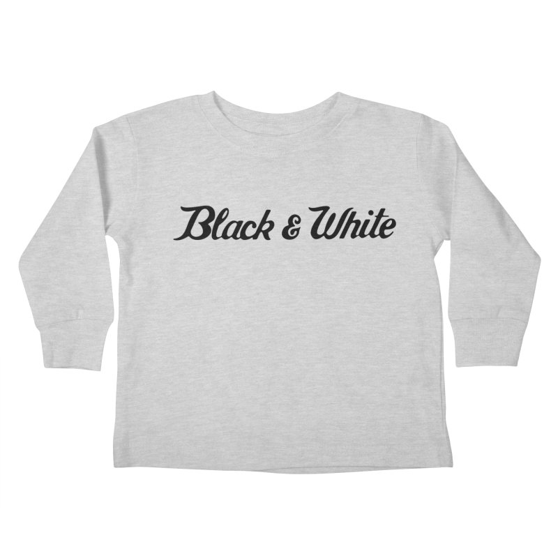 Black & White Kids Toddler Longsleeve T-Shirt by pluko's Artist Shop