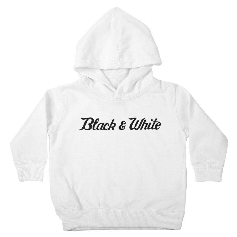 Black & White Kids Toddler Pullover Hoody by pluko's Artist Shop