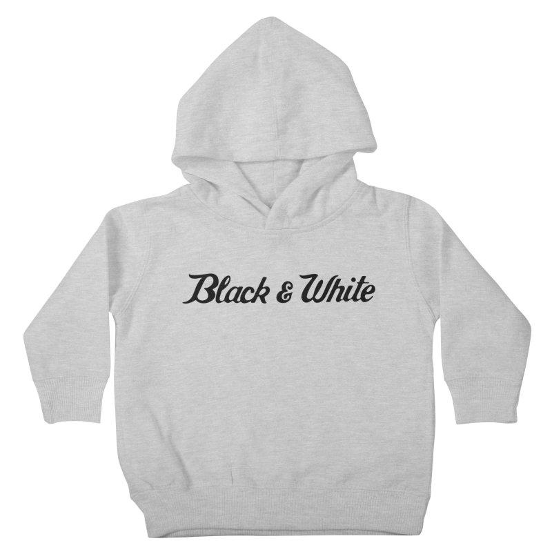 Black & White Kids Toddler Pullover Hoody by pluko's Artist Shop