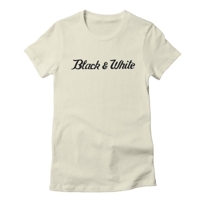 Black & White Women's Fitted T-Shirt by pluko's Artist Shop