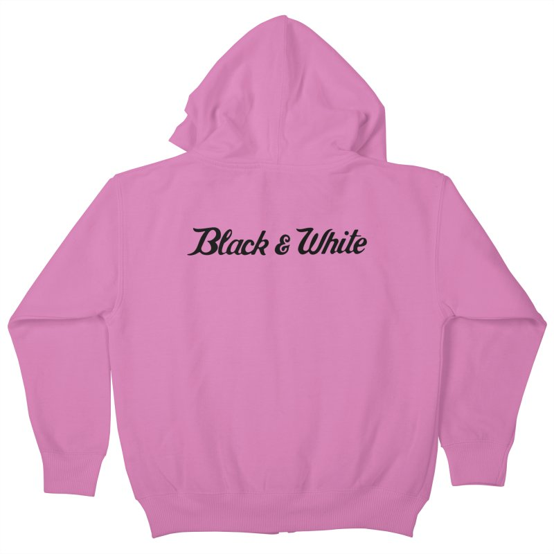Black & White Kids Zip-Up Hoody by pluko's Artist Shop