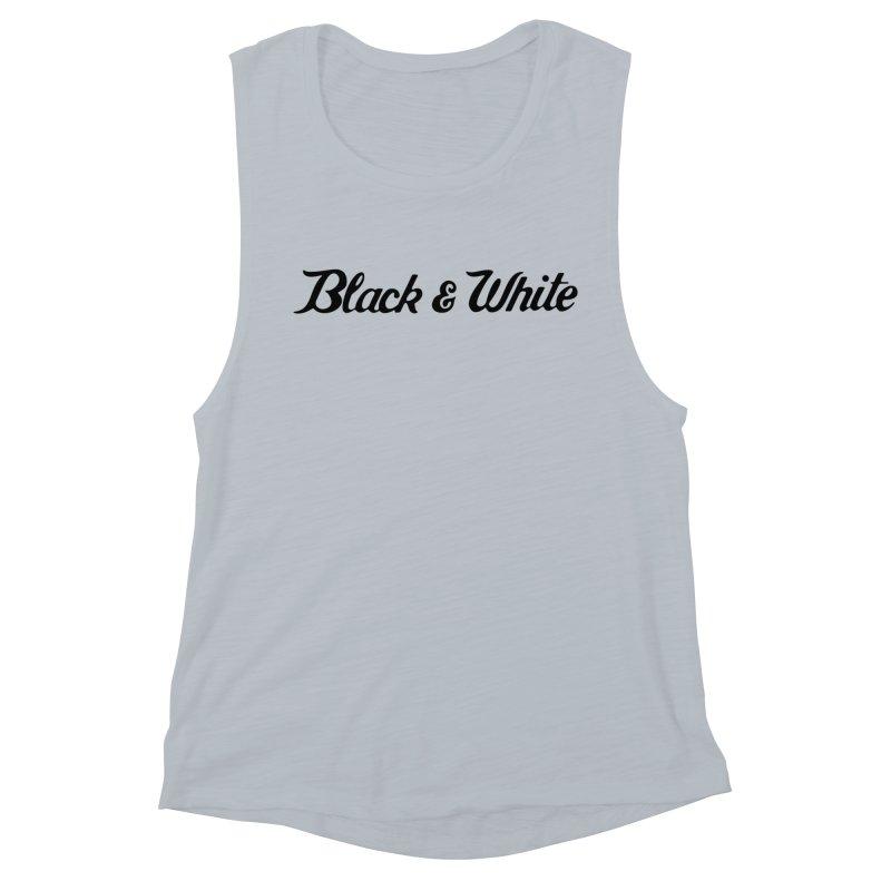 Black & White Women's Muscle Tank by pluko's Artist Shop