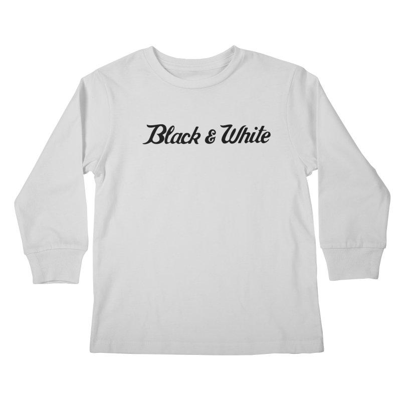 Black & White Kids Longsleeve T-Shirt by pluko's Artist Shop