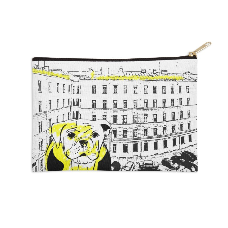 bulldog Accessories Zip Pouch by cutearts