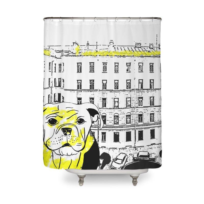 bulldog Home Shower Curtain by cutearts