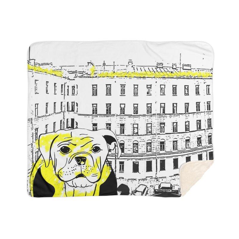 bulldog Home Blanket by cutearts