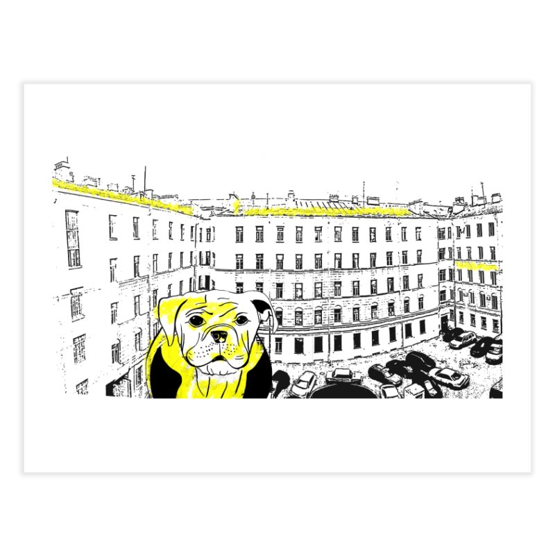 bulldog Home Fine Art Print by cutearts