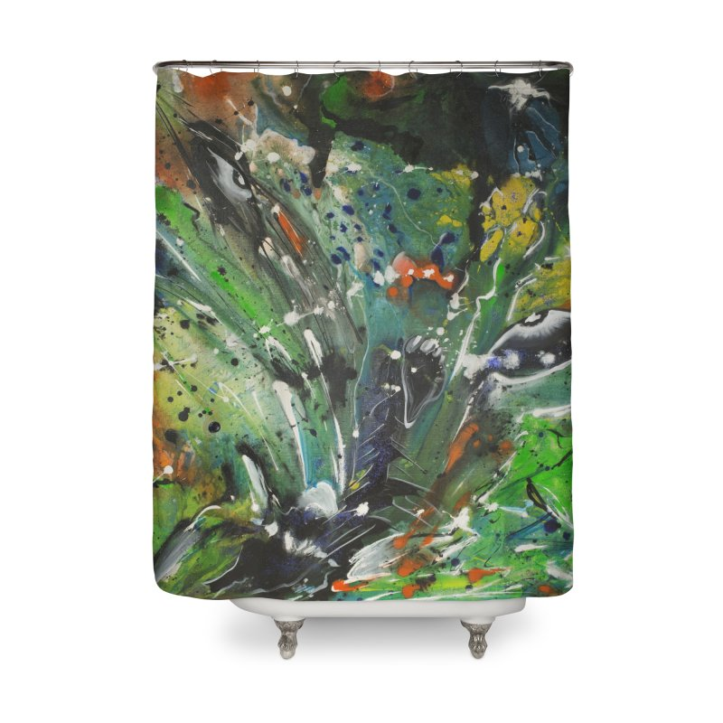 Fearless Home Shower Curtain by Art By Poli