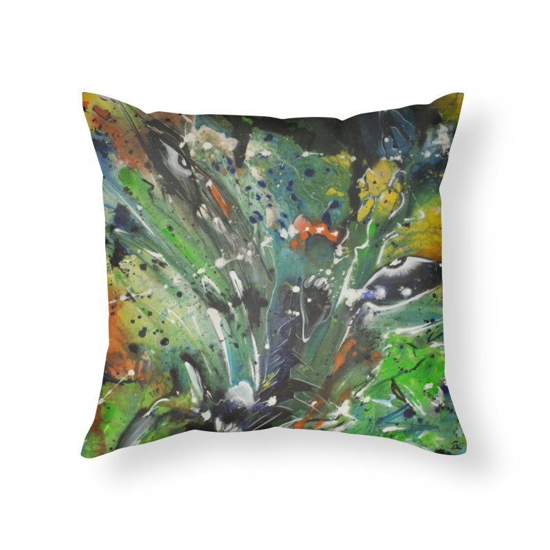 Fearless Home Throw Pillow by Art By Poli