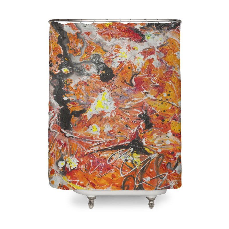 Lava Home Shower Curtain by Art By Poli
