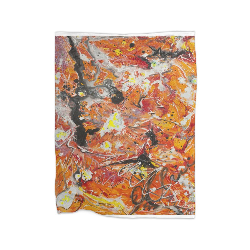 Lava Home Blanket by Art By Poli