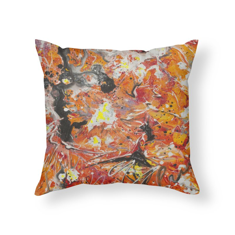 Lava Home Throw Pillow by Art By Poli