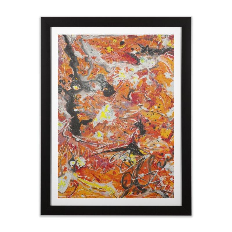 Lava Home Framed Fine Art Print by Art By Poli