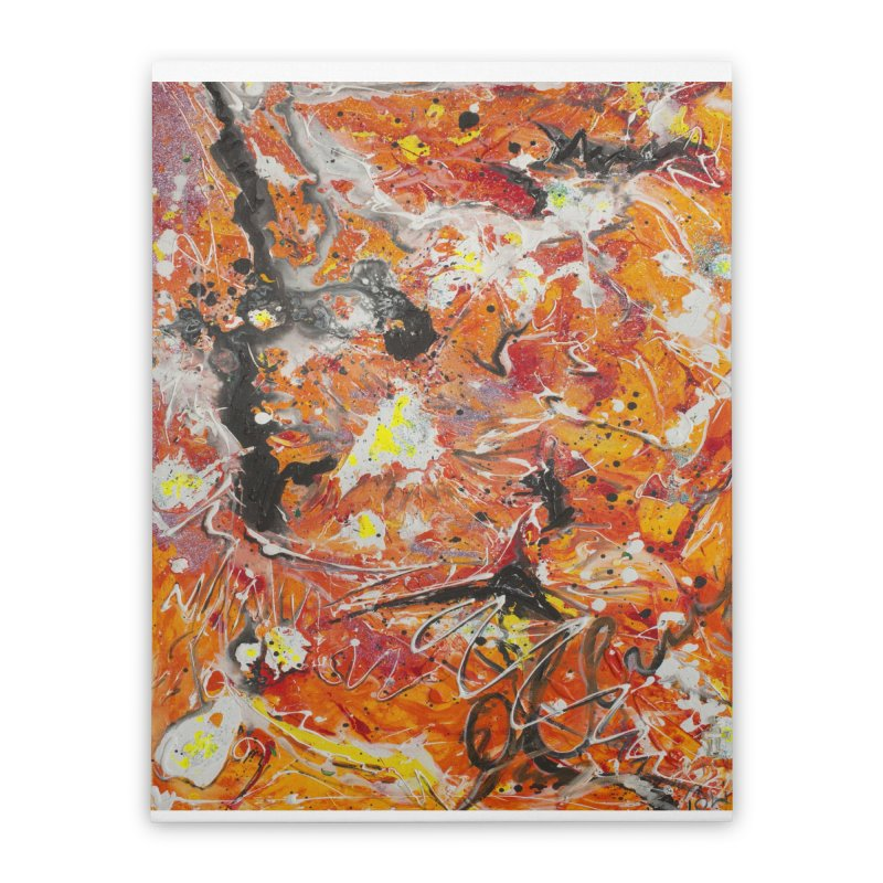 Lava Home Stretched Canvas by Art By Poli