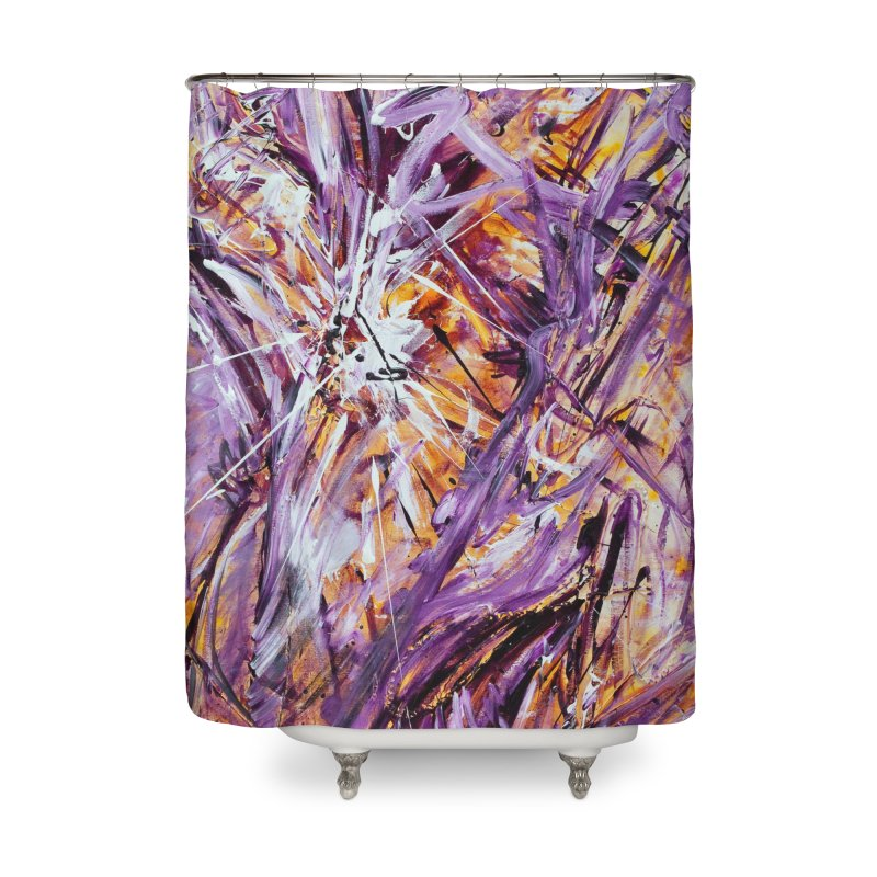 March Madness Home Shower Curtain by Art By Poli