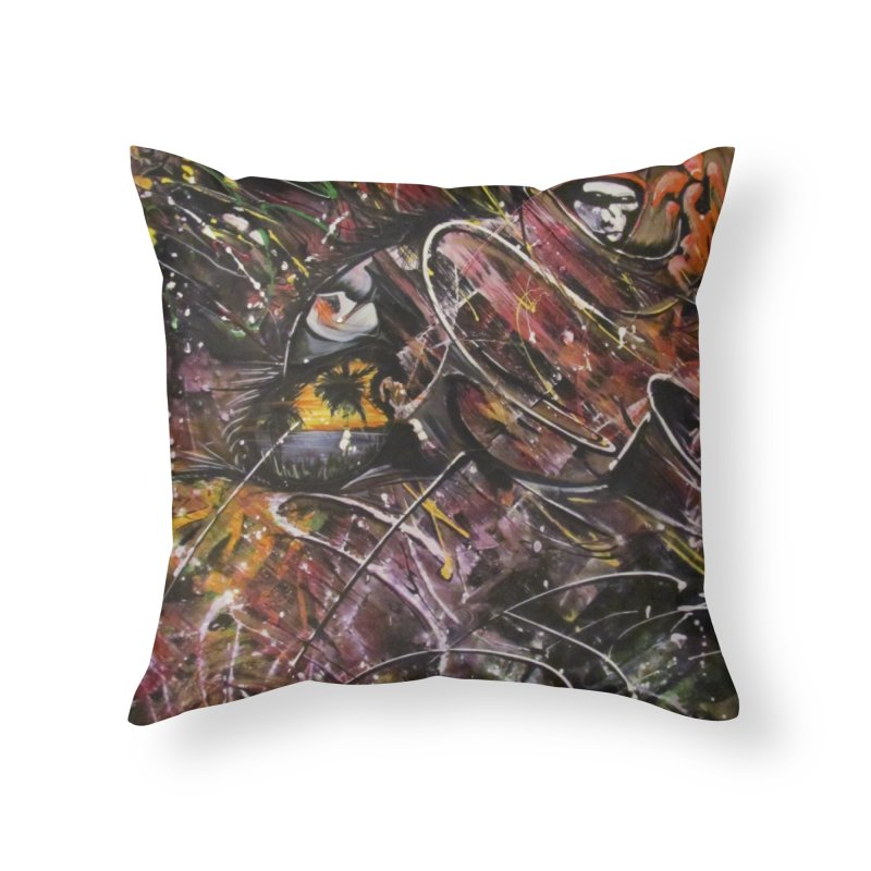 Oasis Home Throw Pillow by Art By Poli