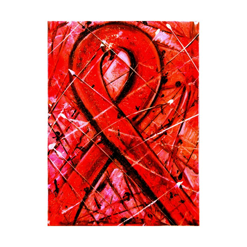 Aids Ribbon Home Fine Art Print by Art By Poli