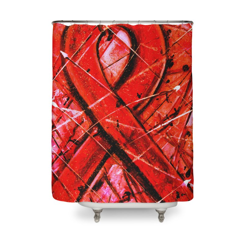 Aids Ribbon Home Shower Curtain by Art By Poli