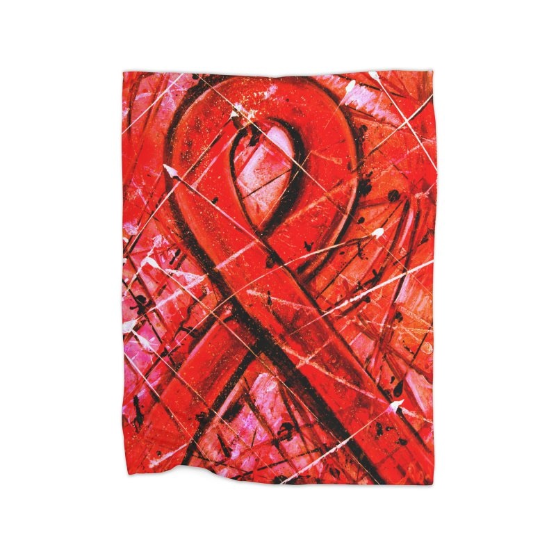 Aids Ribbon Home Blanket by Art By Poli