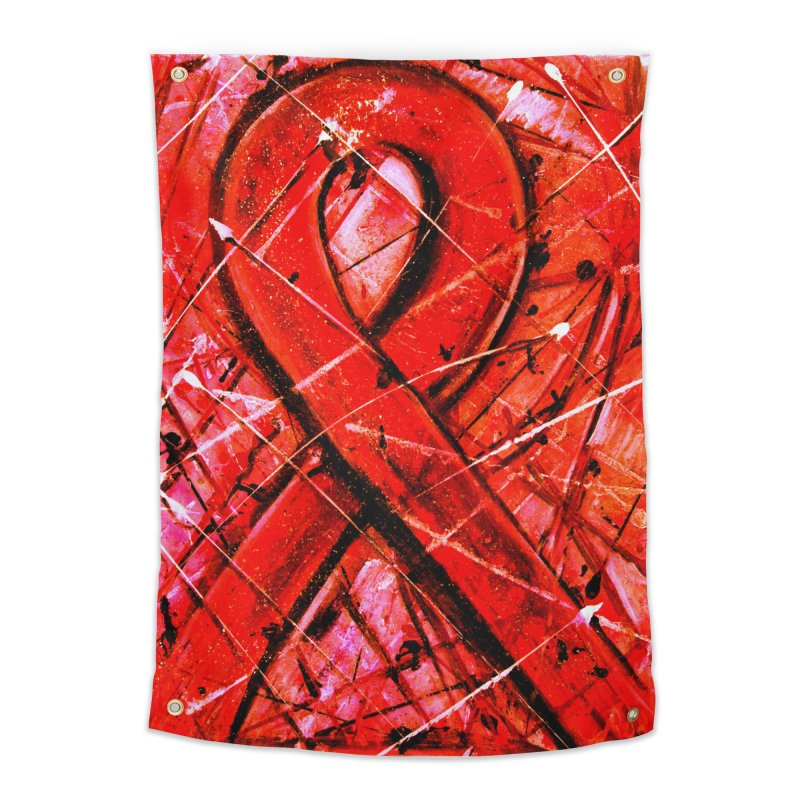 Aids Ribbon Home Tapestry by Art By Poli