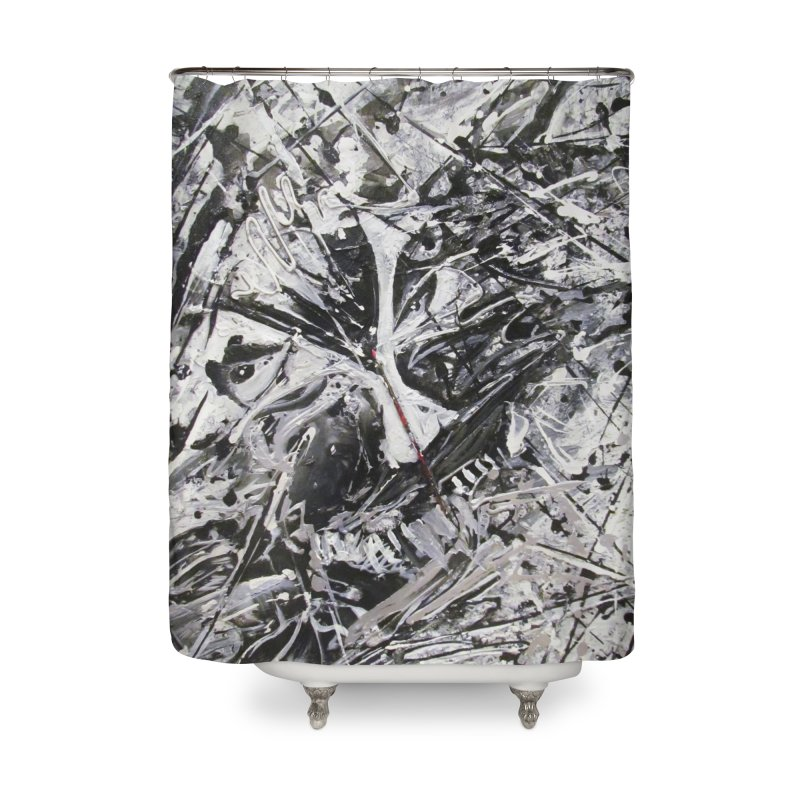 Skeletons in the Closet Home Shower Curtain by Art By Poli