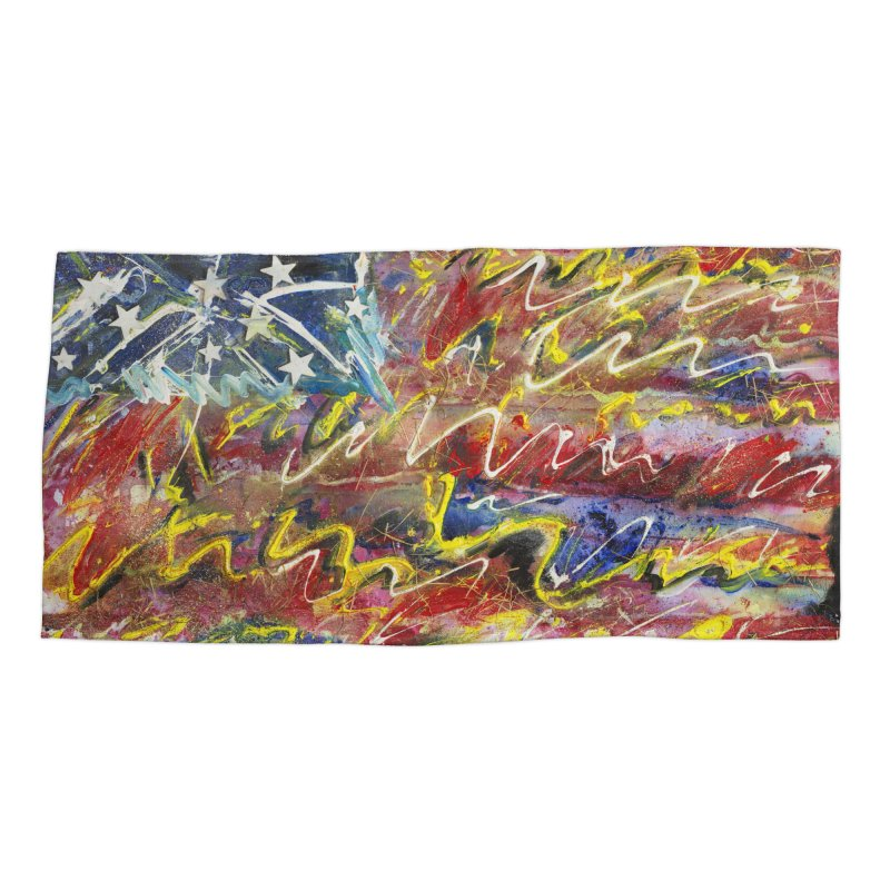 Stars & Stripes Forever Accessories Beach Towel by Art By Poli