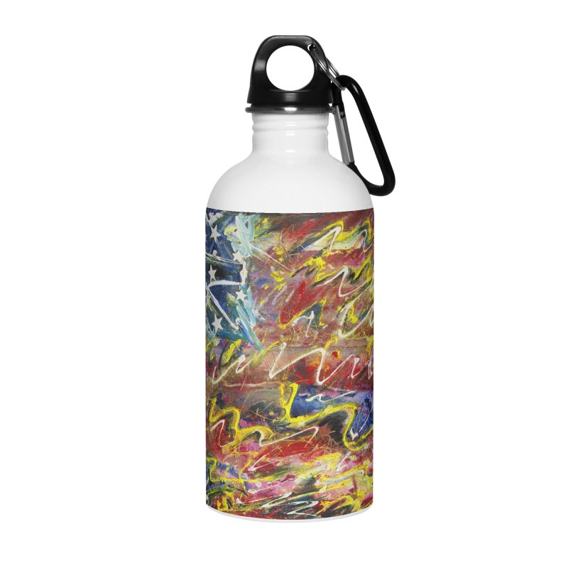 Stars & Stripes Forever Accessories Water Bottle by Art By Poli