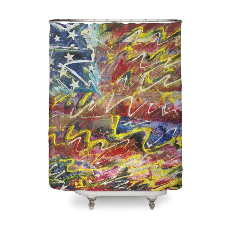 Stars & Stripes Forever Home Shower Curtain by Art By Poli