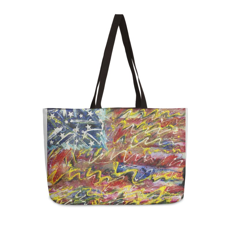 Stars & Stripes Forever Accessories Weekender Bag Bag by Art By Poli