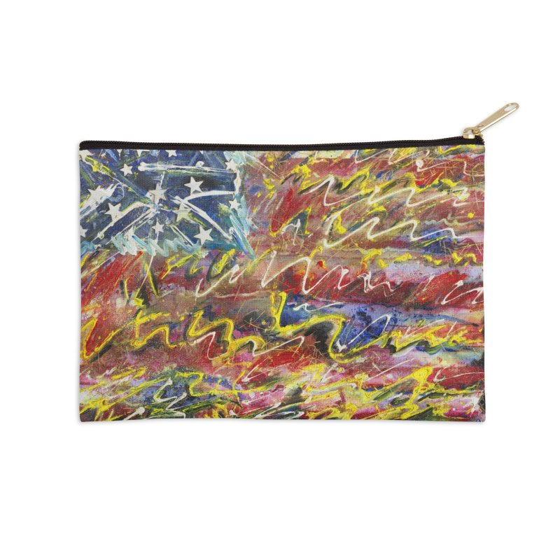 Stars & Stripes Forever Accessories Zip Pouch by Art By Poli