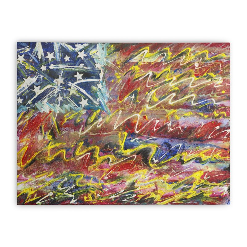 Stars & Stripes Forever Home Stretched Canvas by Art By Poli