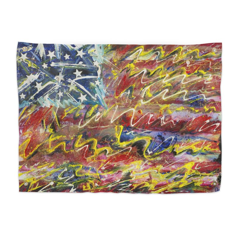 Stars & Stripes Forever Home Tapestry by Art By Poli