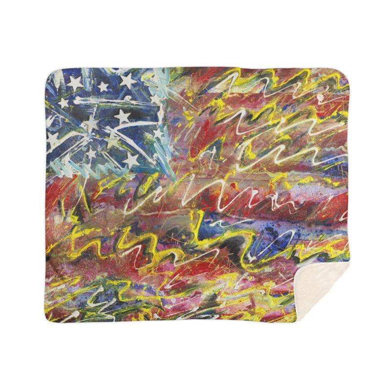 Stars & Stripes Forever Home Sherpa Blanket Blanket by Art By Poli