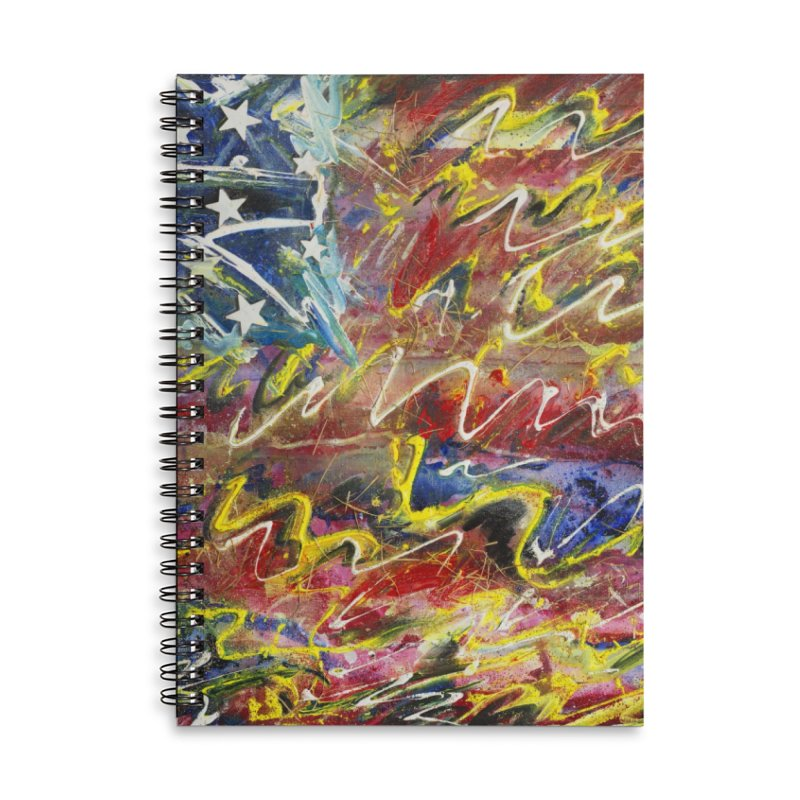 Stars & Stripes Forever Accessories Lined Spiral Notebook by Art By Poli