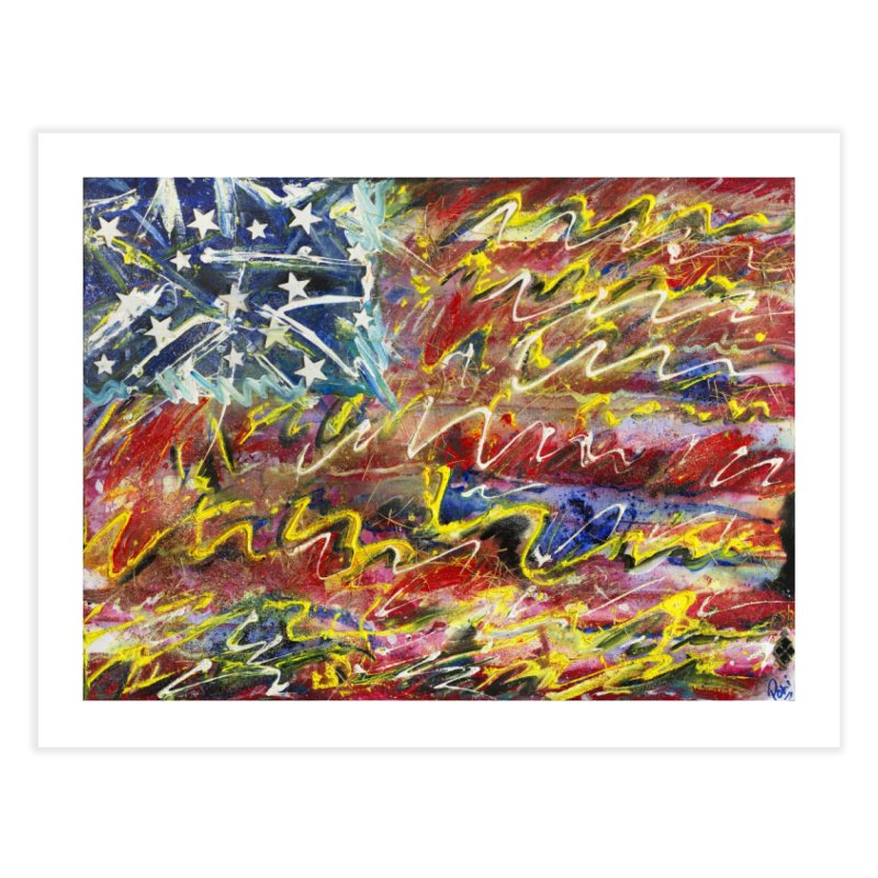Stars & Stripes Forever Home Fine Art Print by Art By Poli