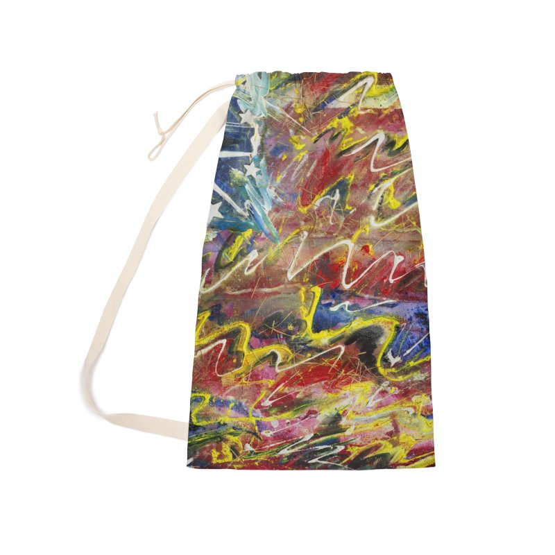 Stars & Stripes Forever Accessories Laundry Bag Bag by Art By Poli