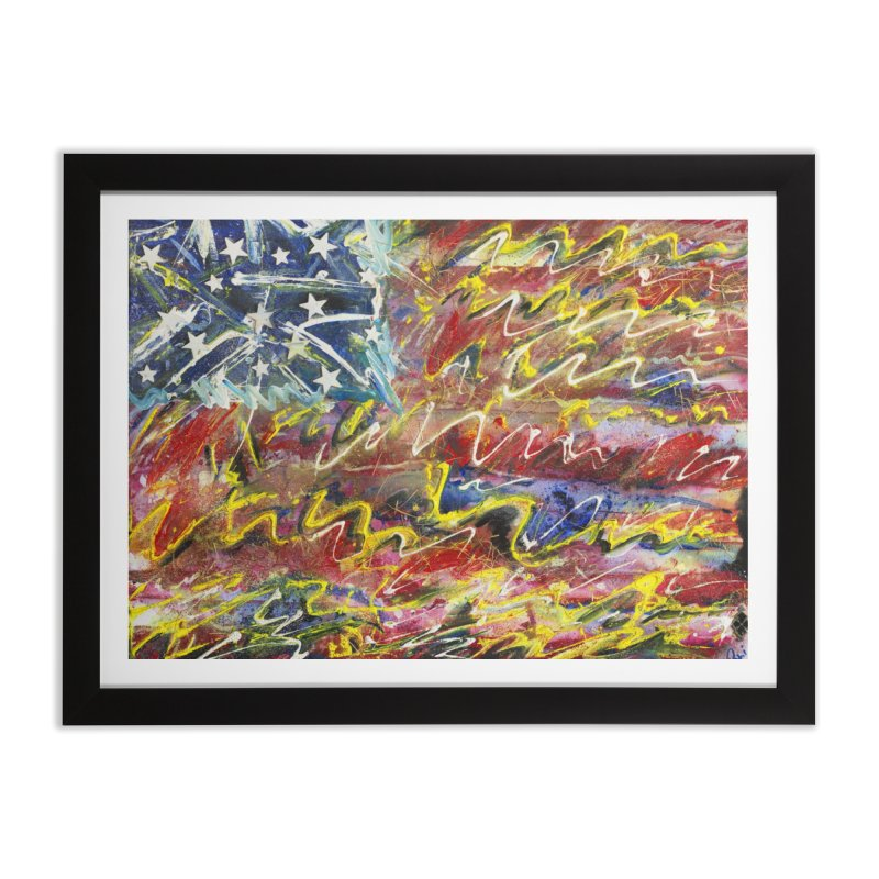 Stars & Stripes Forever Home Framed Fine Art Print by Art By Poli