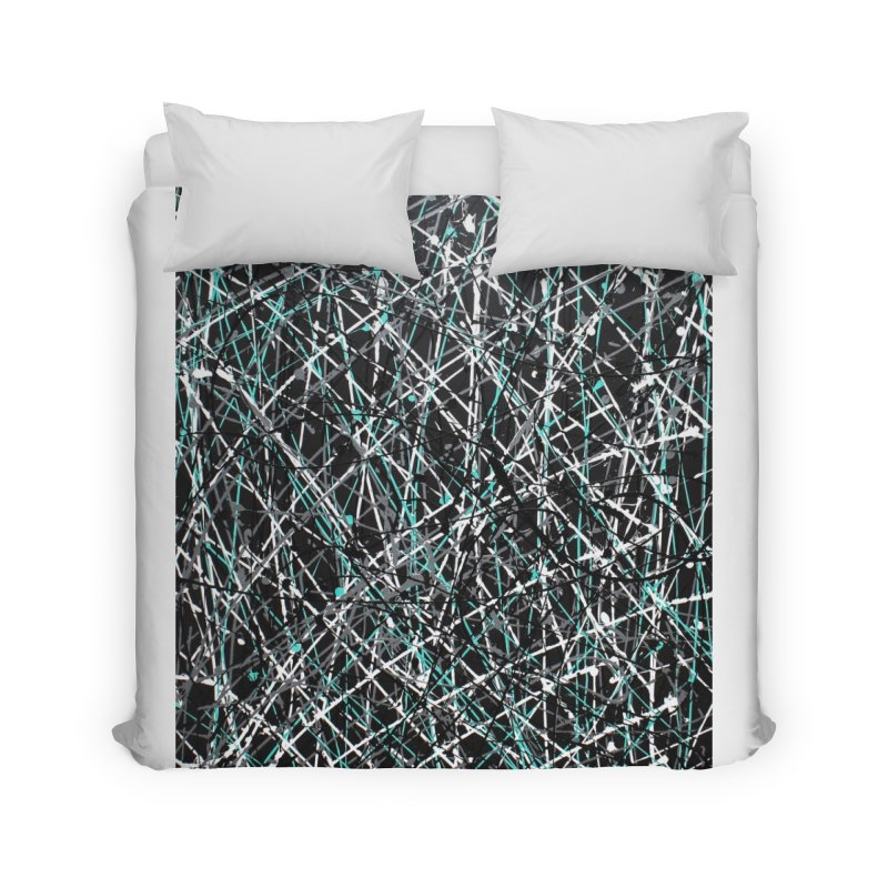 Black Equality Home Duvet by Art By Poli