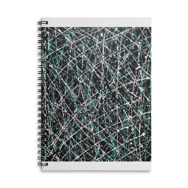 Black Equality Accessories Lined Spiral Notebook by Art By Poli