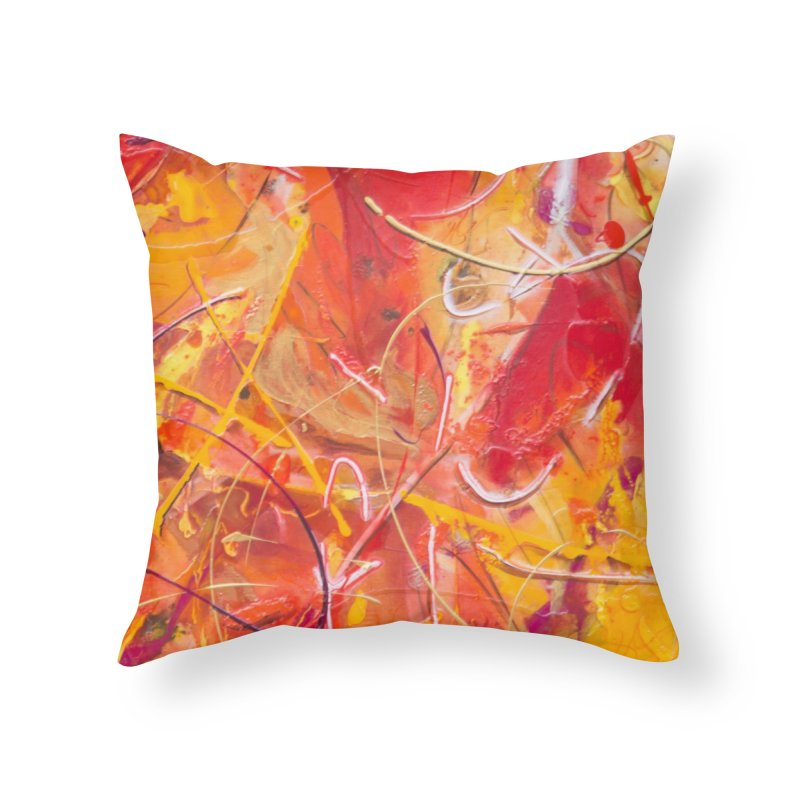 Harvest Home Throw Pillow by Art By Poli