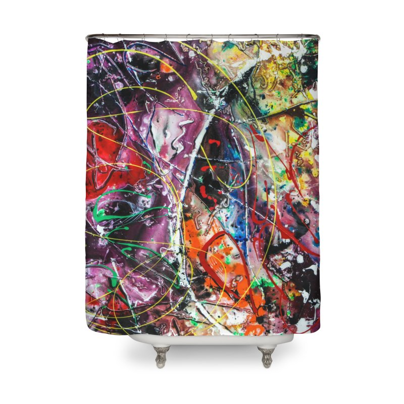 Astronomy Home Shower Curtain by Art By Poli