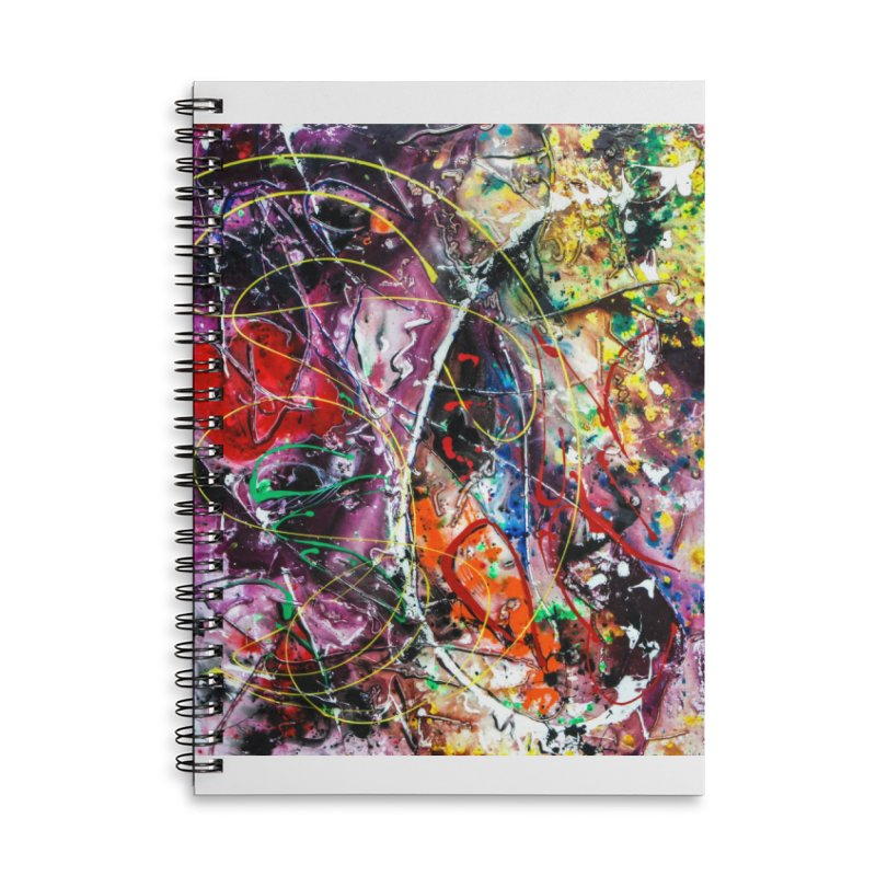 Astronomy Accessories Lined Spiral Notebook by Art By Poli