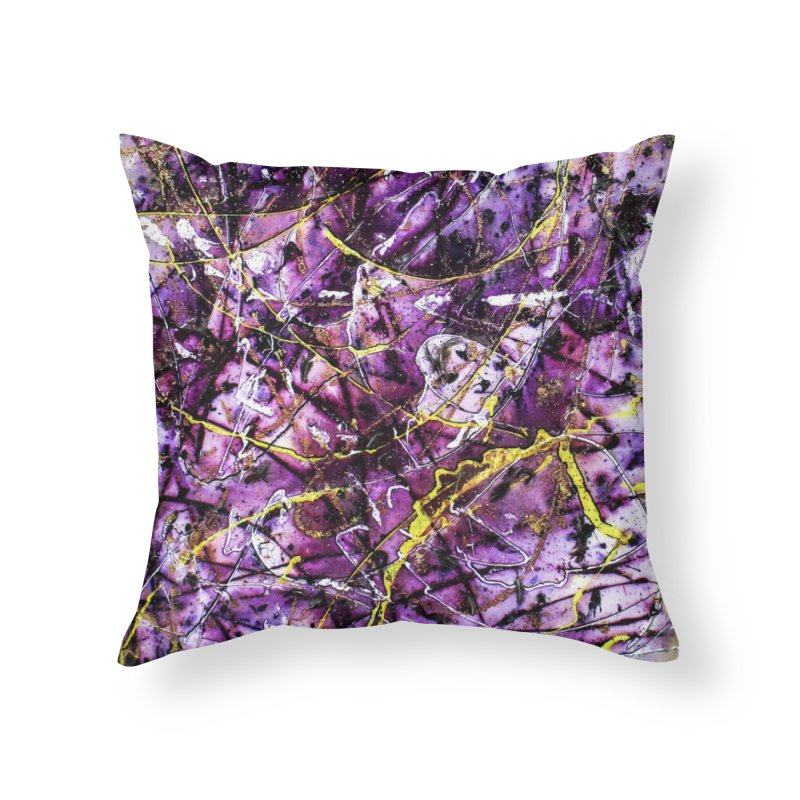 Lavender Love Home Throw Pillow by Art By Poli