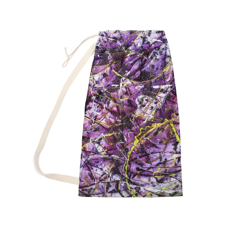 Lavender Love Accessories Laundry Bag Bag by Art By Poli