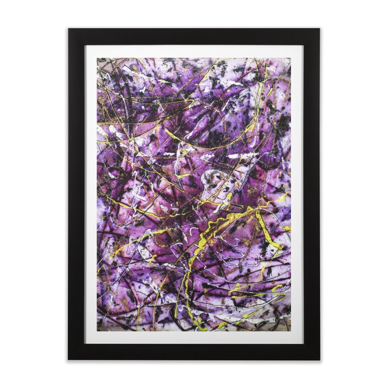 Lavender Love Home Framed Fine Art Print by Art By Poli