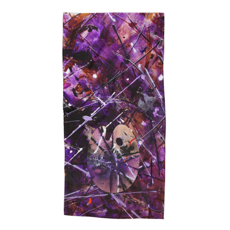 Purple Passion Accessories Beach Towel by Art By Poli