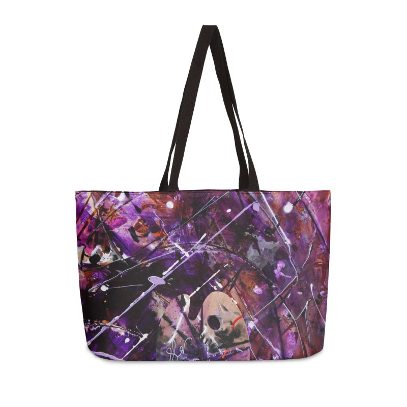 Purple Passion Accessories Weekender Bag Bag by Art By Poli