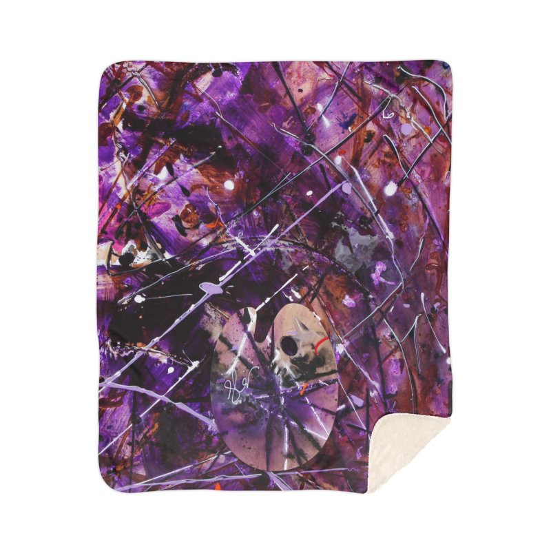 Purple Passion Home Sherpa Blanket Blanket by Art By Poli