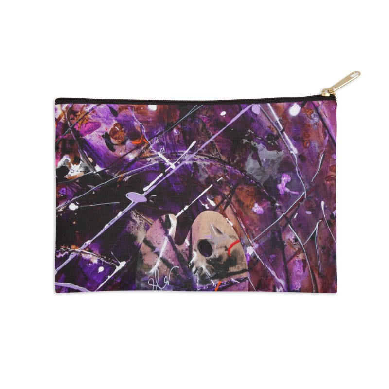 Purple Passion Accessories Zip Pouch by Art By Poli